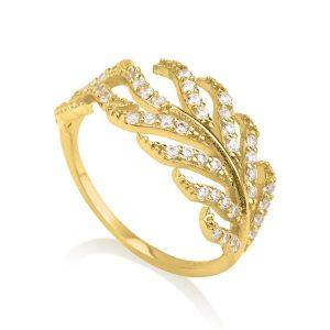 טבעת טרופיקנה- זהב צהוב