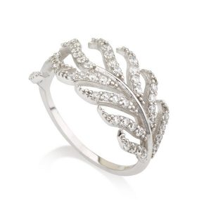 טבעת טרופיקנה- זהב לבן