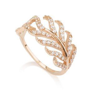 טבעת טרופיקנה- זהב ורוד