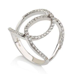טבעת Riri - זהב לבן 14K