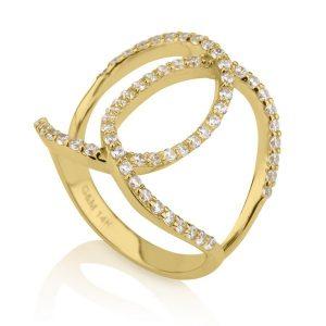 טבעת Riri - זהב צהוב 14K