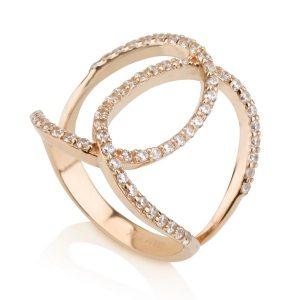 טבעת Riri - זהב ורוד 14K