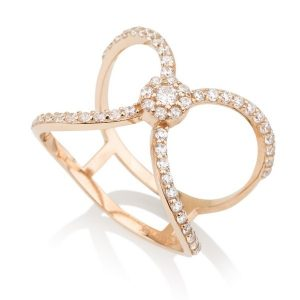 טבעת סלינה - זהב ורוד