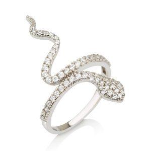 טבעת קוברה- זהב לבן