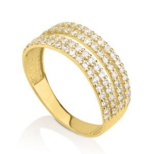 טבעת דאבל ונסה- זהב צהוב