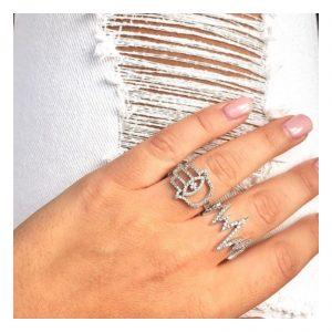 טבעת אלקטרה - זהב לבן 14K