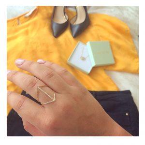 טבעת דארלינג - זהב צהוב
