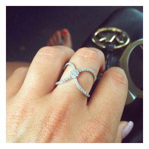 טבעת סלינה - זהב צהוב 14K