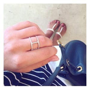 טבעת פרפקשן- זהב ורוד 14K