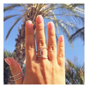 טבעת Yonce - זהב צהוב 14K