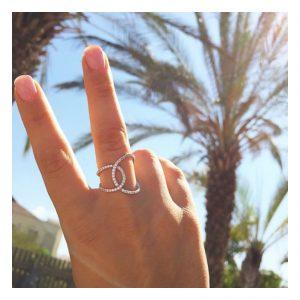 טבעת Yonce - זהב לבן 14K