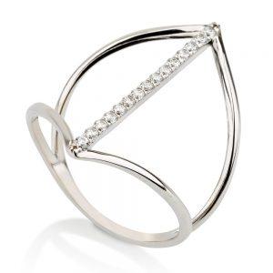 טבעת דארלינג - זהב לבן 14K