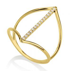 טבעת דארלינג - זהב צהוב 14K