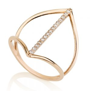 טבעת דארלינג - זהב ורוד 14K
