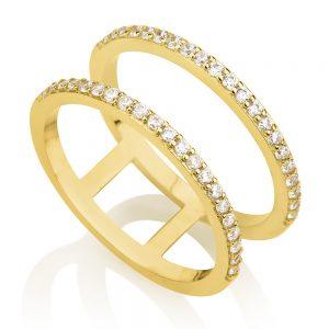 טבעת Emma- זהב צהוב 14K