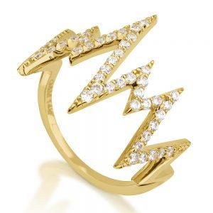 טבעת אלקטרה - זהב צהוב 14K
