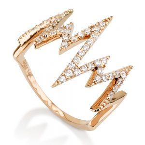 טבעת אלקטרה - זהב ורוד 14K