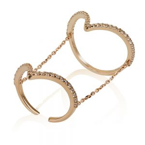 טבעת אריזונה - זהב ורוד