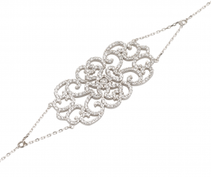 צמיד קמילה - זהב לבן 14K