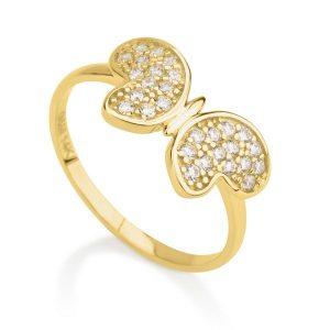 טבעת באטרפליי- זהב צהוב 14K