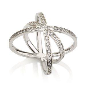 טבעת אינגלנד - זהב לבן 14K