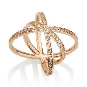 טבעת אינגלנד - זהב ורוד 14K