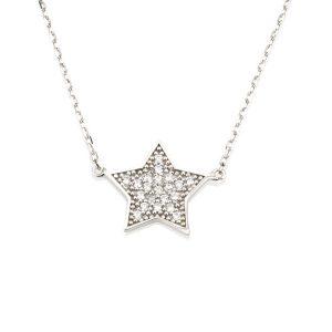 שרשרת Be a star - זהב לבן 14K