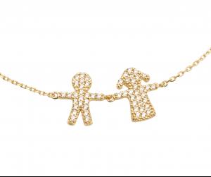 צמיד אמוש Girl&Boy - זהב צהוב