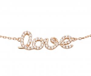 צמיד Love - זהב ורוד 14K