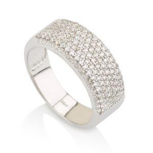 טבעת אדריאנה ווליום - זהב לבן