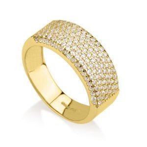 טבעת אדריאנה ווליום - זהב צהוב 14K