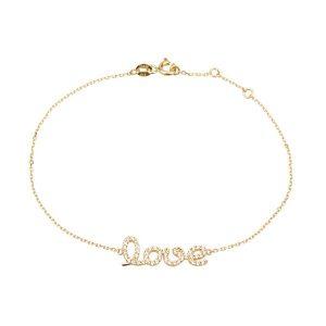 צמיד Love - זהב צהוב 14K