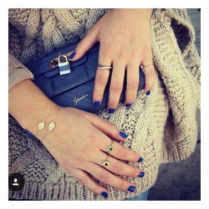 טבעת אמיליה Mix Stones - זהב צהוב 14K