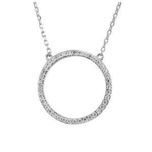 שרשרת Circle - זהב לבן 14K