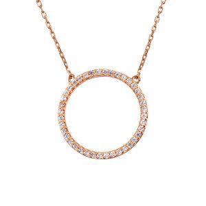 שרשרת Circle - זהב ורוד 14K