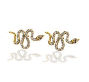 עגילי קוברה - זהב צהוב 14K