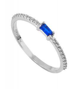 טבעת הוליווד רויאל - זהב לבן 14K