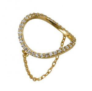 טבעת Circle - זהב צהוב 14K