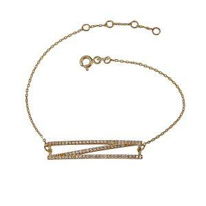 צמיד ג'יאומטריק - זהב צהוב 14K