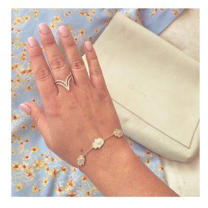 טבעת דאבל ויקטורי- זהב צהוב 14K