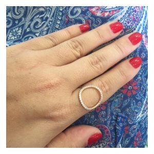 טבעת Circle - זהב ורוד 14K