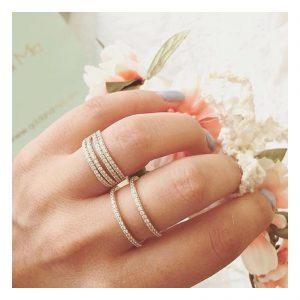 טבעת Emma - זהב ורוד 14K