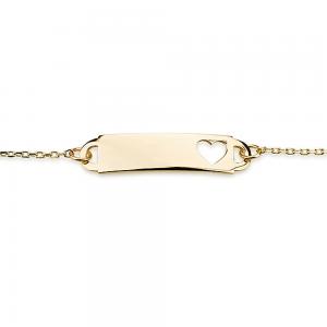 צמיד ילדות Tiny Heart - זהב 14K