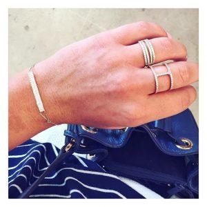 טבעת דאבל ונסה- זהב לבן