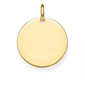תליון מטבע קטן לחריטה - זהב 14K