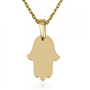 שרשרת חמסה קטנה לחריטה - זהב 14K