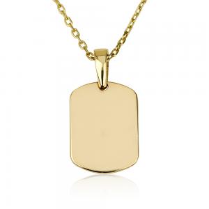 שרשרת דיסקית לחריטה - זהב 14K