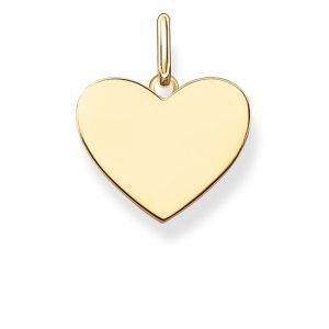תליון Tiny Heart לחריטה - זהב 14K