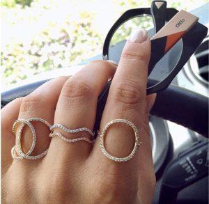 טבעת בייסיק Wave- זהב ורוד 14K