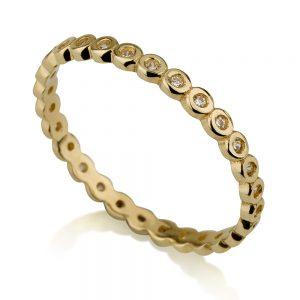 טבעת בייסיק סירקלס- זהב צהוב 14K
